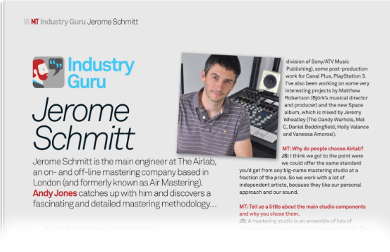 Jerome Schmitt interview